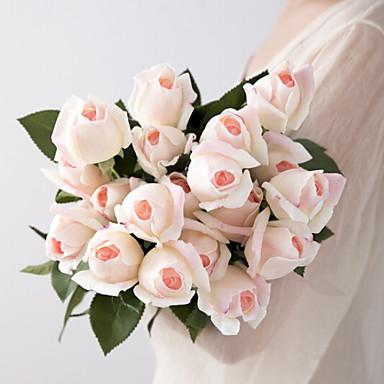 زهور اصطناعية 5 فرع كلاسيكي زهري الورود أزهار الطاولة