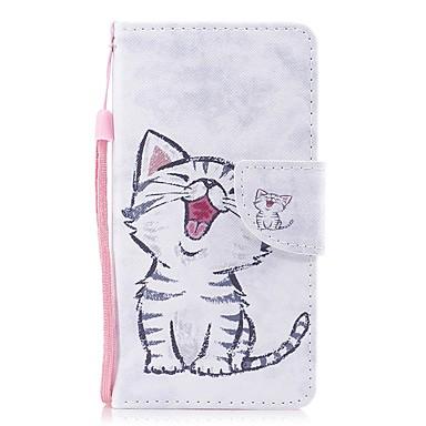 غطاء من أجل Samsung Galaxy J3 (2017) محفظة / حامل البطاقات / قلب غطاء كامل للجسم قطة قاسي جلد PU