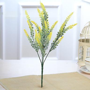 زهور اصطناعية 1 فرع كلاسيكي الحديث المعاصر أزرق فاتح أزهار الطاولة