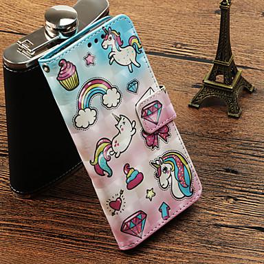 غطاء من أجل Samsung Galaxy S9 / S9 Plus / S8 Plus حامل البطاقات / مع حامل / قلب غطاء كامل للجسم آحادي القرن قاسي جلد PU