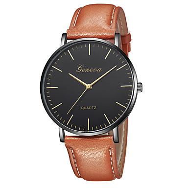 Geneva نسائي ساعة المعصم كوارتز جلد أسود / بني تصميم جديد ساعة كاجوال كوول مماثل كاجوال موضة - بني ذهبي بني أسود / ذهبي روزي سنة واحدة عمر البطارية