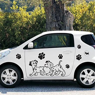 أسود Car Stickers كرتون ملصقات الباب كارتون ملصقات