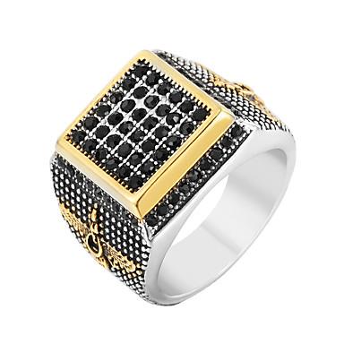 رجالي خاتم البيان خاتم الخاتم 1PC ذهبي الفولاذ المقاوم للصدأ بانغك شائع هيب هوب شارع نادي مجوهرات أشكال النحت كوول