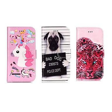 Недорогие Чехлы и кейсы для Galaxy S6-Кейс для Назначение SSamsung Galaxy S9 / S9 Plus / S8 Кошелек / Бумажник для карт / со стендом Чехол Животное / Мультипликация Твердый Кожа PU