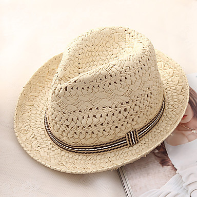 baadc3c9c cheap Men's Hats-Men's Basic Holiday Straw