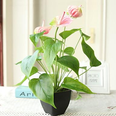زهور اصطناعية 1 فرع كلاسيكي أنيق زبنق لالا أزهار الطاولة