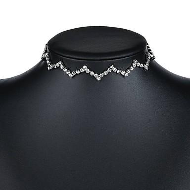 billige Mode Halskæde-Dame Enlig Snor Kort halskæde Damer Sølv 30 cm Halskæder Smykker 1pc Til Aftenselskab Valentine