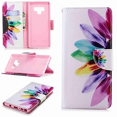 Недорогие Чехлы и кейсы для Galaxy Note 3-Кейс для Назначение SSamsung Galaxy Note 5 / Note 4 / Note 3 Кошелек / Бумажник для карт / со стендом Чехол Цветы Твердый Кожа PU