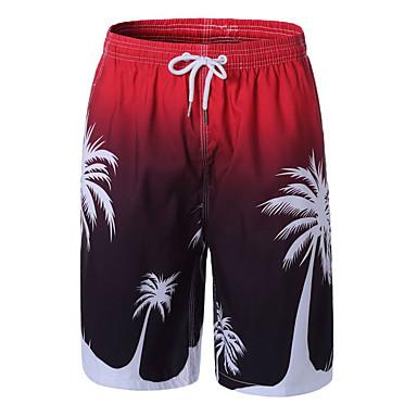 رجالي أساسي مناسب للبس اليومي شاطئ شورتات بنطلون - ورد طباعة الصيف أزرق أخضر أحمر L XL XXL