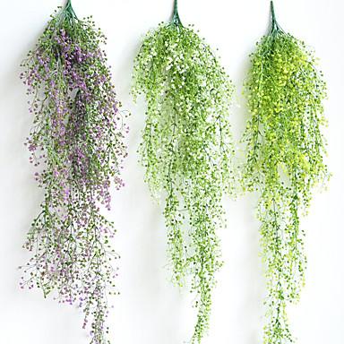 زهور اصطناعية 1 فرع كلاسيكي الزفاف النمط الرعوي نباتات أزهار الحائط