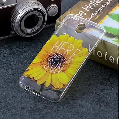 غطاء من أجل Samsung Galaxy J7 (2017) / J5 (2017) / J5 (2016) IMD / نموذج غطاء خلفي زهور ناعم TPU