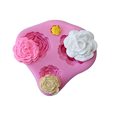 3d روز زهرة سيليكون قالب فندان تزيين الكعكة الشوكولاته قوالب الخبز الكعكة