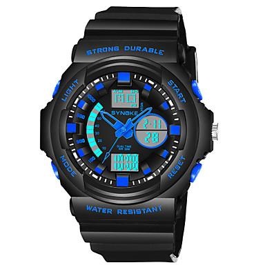 SYNOKE رجالي ساعة رقمية ياباني رقمي جلد اصطناعي أسود 50 m مقاوم للماء رزنامه الكرونوغراف تناظري-رقمي موضة - برتقالي أخضر أزرق / قضية