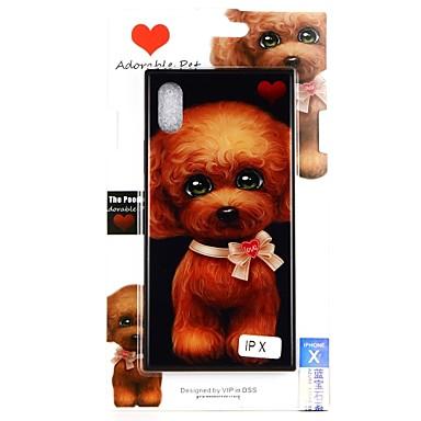 غطاء من أجل Apple iPhone X / iPhone 8 Plus / iPhone 8 نموذج غطاء خلفي كلب قاسي زجاج مقوى