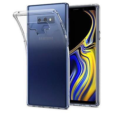 غطاء من أجل Samsung Galaxy Note 9 / Note 8 / Note 5 نحيف جداً / شفاف غطاء خلفي لون سادة ناعم TPU