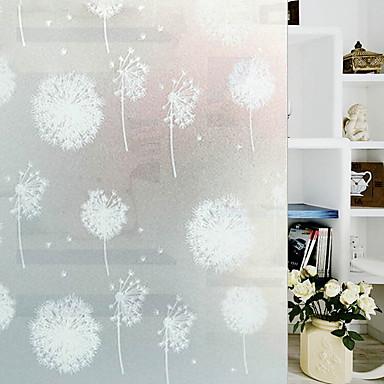 فيلم نافذة وملصقات زخرفة العادي ورد PVC ملصق النافذة