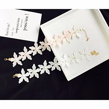 ieftine Colier la Modă-Pentru femei Apă dulce Pearl Coliere Choker Ștrasuri Eliminat Floare femei Romantic Modă Dantelă Alb Negru Roz 34.5 cm Coliere Bijuterii 1 buc Pentru Zilnic Dată
