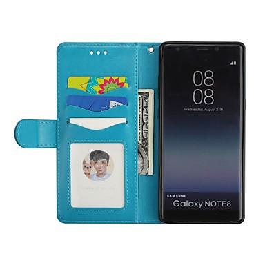 غطاء من أجل Samsung Galaxy Note 8 محفظة / حامل البطاقات / مع حامل غطاء كامل للجسم البشروس طائر مائي / بريق لماع قاسي جلد PU