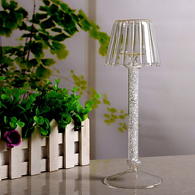 Simple Style Glasses / ABS+PC Candle Holders Candelabra 1pc, Candle / Candle Holder