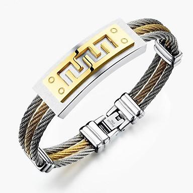 رجالي أسورة ستايل خلاق موضة الصلب التيتانيوم مجوهرات سوار ذهبي / فضي من أجل مناسب للحفلات مناسب للبس اليومي