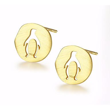 halpa Korvakorut-Naisten Niittikorvakorut Tyylikäs Penguin naiset Rento / urheilullinen Muoti söpö tyyli Sterling-hopea Gold Plated korvakorut Korut Kulta / Hopea Käyttötarkoitus Päivittäin Deitti 1 Pair