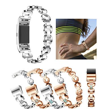حزام إلى Fitbit Charge 2 فيتبيت عصابة الرياضة / تصميم المجوهرات ستانلس ستيل / خزفي شريط المعصم
