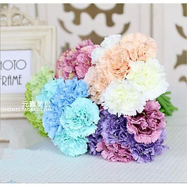 زهور اصطناعية 5 فرع كلاسيكي فردي أنيق النمط الرعوي قرنفل أزهار الطاولة