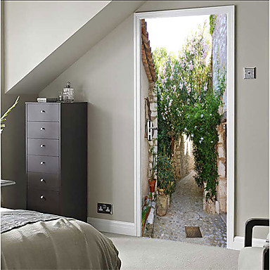لواصق حائط مزخرفة - لواصق حياة هادئة / 3D غرفة النوم / داخلي