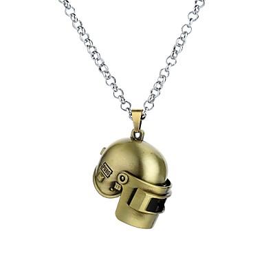رجالي كلاسيكي قديم قلائد الحلي لوليتا غورو باروكو روك كوول ذهبي أسود برونز 62 cm قلادة مجوهرات 1PC من أجل هدية حفلة تنكرية