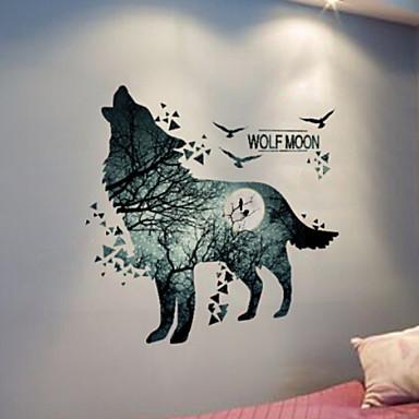 لواصق حائط مزخرفة - ملصقات الحائط الحيوان حيوانات / 3D غرفة النوم / داخلي