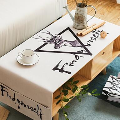 معاصر كرتون 100g / m2 البوليستر الإمتداد حك مربع قماش الطاولة هندسي منقوشة الجدول ديكورات 1 pcs