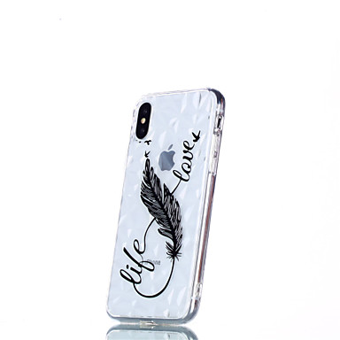 retro 8 iPhone Piume iPhone 8 Plus iPhone disegno Fantasia 06878456 Plus per Custodia Per 8 X X Apple Per iPhone Morbido TPU iPhone qUIxnPwC4v