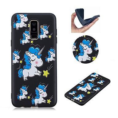 غطاء من أجل Samsung Galaxy A6 (2018) / A6+ (2018) / Galaxy A7(2018) نموذج غطاء خلفي آحادي القرن ناعم TPU