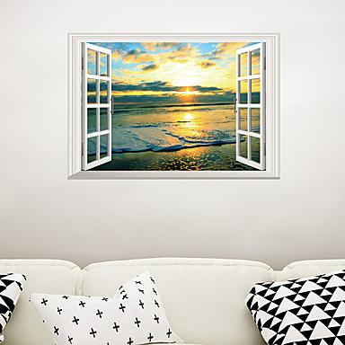 لواصق حائط مزخرفة - لواصق مناظر طبيعية غرفة الجلوس / غرفة النوم / دورة المياه / قابل اعادة الوضع