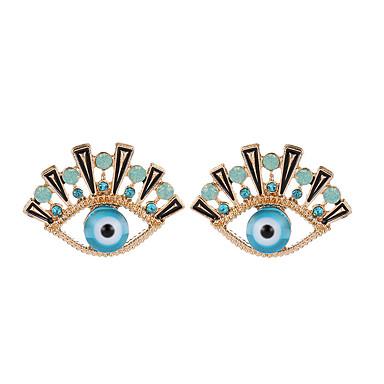 نسائي أقراط الزر مقصوص ستايل عيون عبارة سيدات شائع حجر الراين الأقراط مجوهرات أزرق البحرية من أجل مناسب للبس اليومي مناسب للخارج 1 زوج