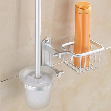 حاملة فرشاة التواليت تصميم جديد / كوول معاصر الالومنيوم 1PC حامل فرشاة الحمام مثبت على الحائط
