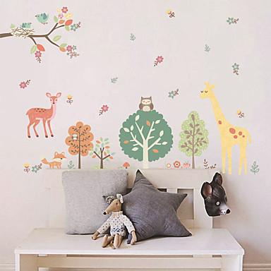 لواصق حائط مزخرفة - ملصقات الحائط الحيوان الأزهار / النباتية غرفة الجلوس / غرفة النوم / دورة المياه