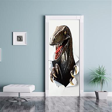 ملصقات الباب - لواصق / ملصقات الحائط الحيوان مشهور / حيوانات حضانة / غرفة الأطفال