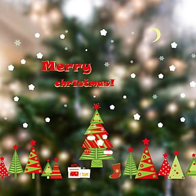 فيلم نافذة وملصقات زخرفة معاصر / عيد الميلاد هندسي / شخصية PVC تصميم جديد / بديع