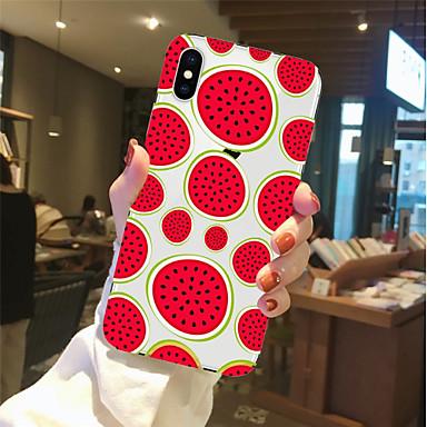غطاء من أجل Apple iPhone X / iPhone 8 Plus / iPhone 8 شفاف / نموذج غطاء خلفي مأكولات / فاكهة ناعم TPU