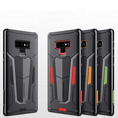 Недорогие Чехлы и кейсы для Galaxy Note-Кейс для Назначение SSamsung Galaxy Note 9 Защита от удара / Рельефный Кейс на заднюю панель броня Твердый ПК