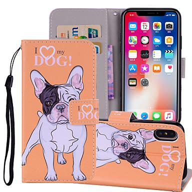 غطاء من أجل Apple iPhone X / iPhone 8 Plus / iPhone 8 محفظة / حامل البطاقات / مع حامل غطاء كامل للجسم كلب / فيل قاسي جلد PU