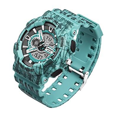 Χαμηλού Κόστους Ανδρικά ρολόγια-SANDA Ανδρικά Αθλητικό Ρολόι Ψηφιακό ρολόι Ιαπωνικά Ψηφιακό Μαύρο / Κόκκινο / Πράσινο 30 m Ανθεκτικό στο Νερό Ημερολόγιο Χρονόμετρο Αναλογικό-Ψηφιακό Πολυτέλεια Μοντέρνα - Βυσσινί Κόκκινο Πράσινο
