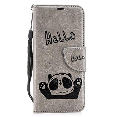غطاء من أجل Samsung Galaxy A6 (2018) / A6+ (2018) / A8 2018 محفظة / حامل البطاقات / مع حامل غطاء كامل للجسم باندا قاسي جلد PU
