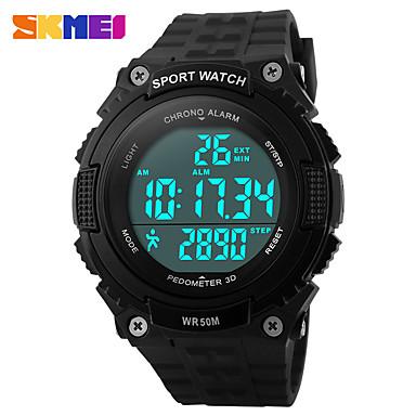 SKMEI رجالي نسائي ساعة رياضية ساعة رقمية رقمي سيليكون أسود / أخضر 30 m مقاوم للماء رزنامه الكرونوغراف رقمي كاجوال - أسود أخضر