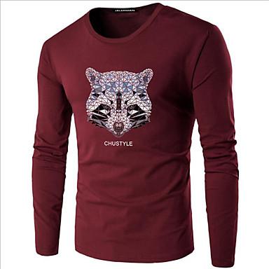 b62bcffe1352 Χαμηλού Κόστους Ανδρικά μπλουζάκια και φανελάκια-Ανδρικά Μεγάλα Μεγέθη  T-shirt Κομψό στυλ street