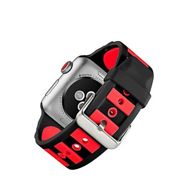 Χαμηλού Κόστους Ανδρικά ρολόγια-Σιλικόνη Παρακολουθήστε Band Λουρί για Apple Watch Series 4/3/2/1 Μαύρο 23 εκατοστά / 9 ίντσες 2.1cm / 0.83 Ίντσες
