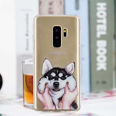 Etui Käyttötarkoitus Samsung Galaxy S9 Plus / S9 Läpinäkyvä / Kuvio Takakuori Koira Pehmeä TPU varten S9 / S9 Plus / S8 Plus