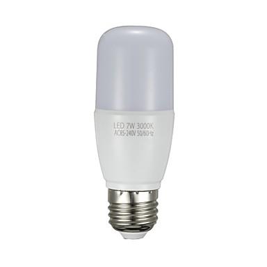 1PC 7 W أضواء LED ذرة 700 lm E26 / E27 T 12 الخرز LED SMD 2835 أبيض دافئ أبيض 85-265 V