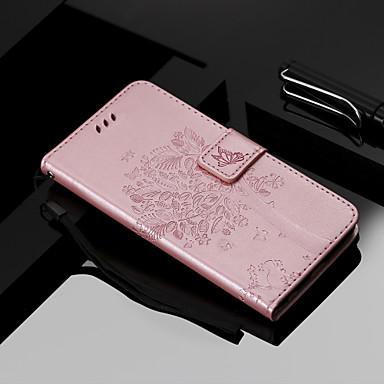 olcso iPhone 5 tokok-Case Kompatibilitás Apple iPhone XS / iPhone XR Pénztárca / Kártyatartó / Állvánnyal Héjtok Cica / Fa Kemény PU bőr mert iPhone XS / iPhone XR / iPhone XS Max